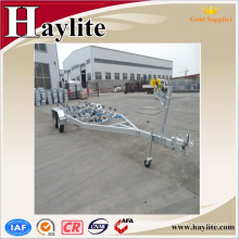 ADR certified galvanized Double Axle metal boat trailer
